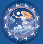 moon natal readings,horoscope,astrology,mythology,diana